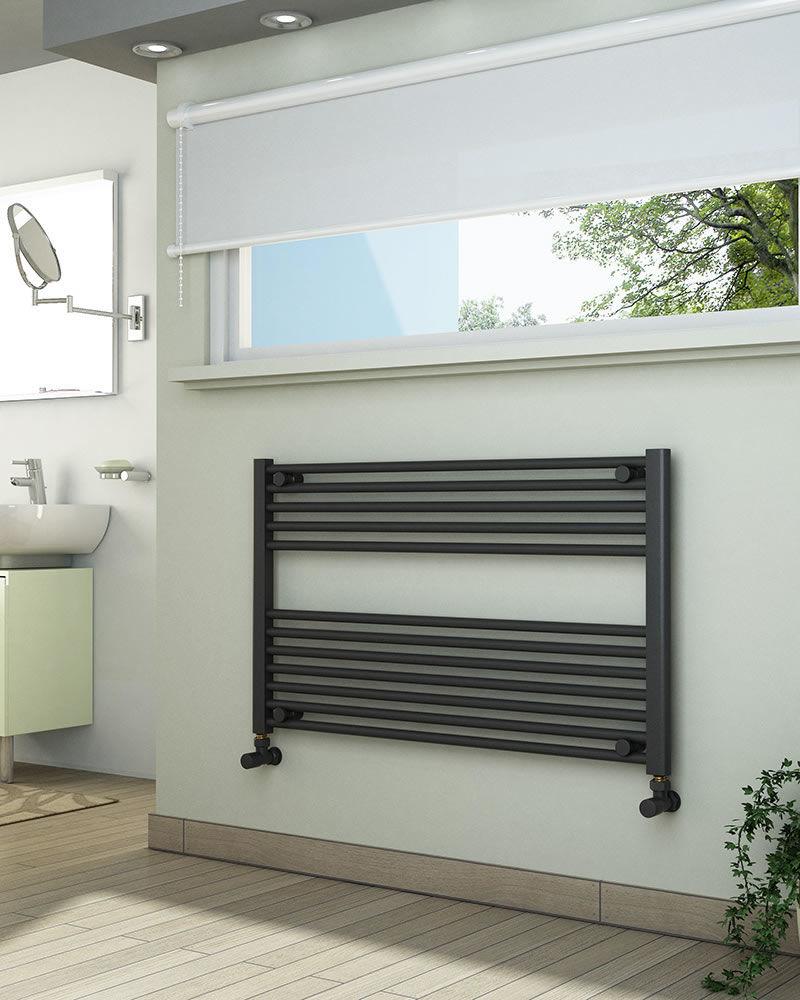 Grzejniki łazienkowe drabinkowe antracyt - 1000/600 mm