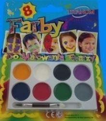 Farby do malowania twarzy x8