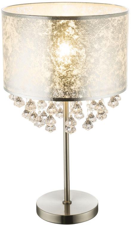 Globo AMY I 15188T3 lampa stołowa srebrny 1xE27 60W 32cm