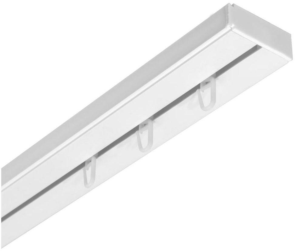Szyna sufitowa 1-torowa biała 200 cm z akcesoriami PVC