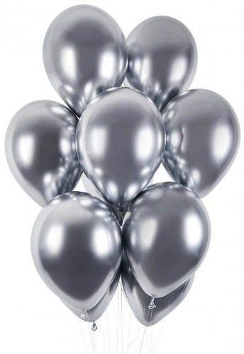 """Balon 13"""" Shiny srebrny, chrom"""