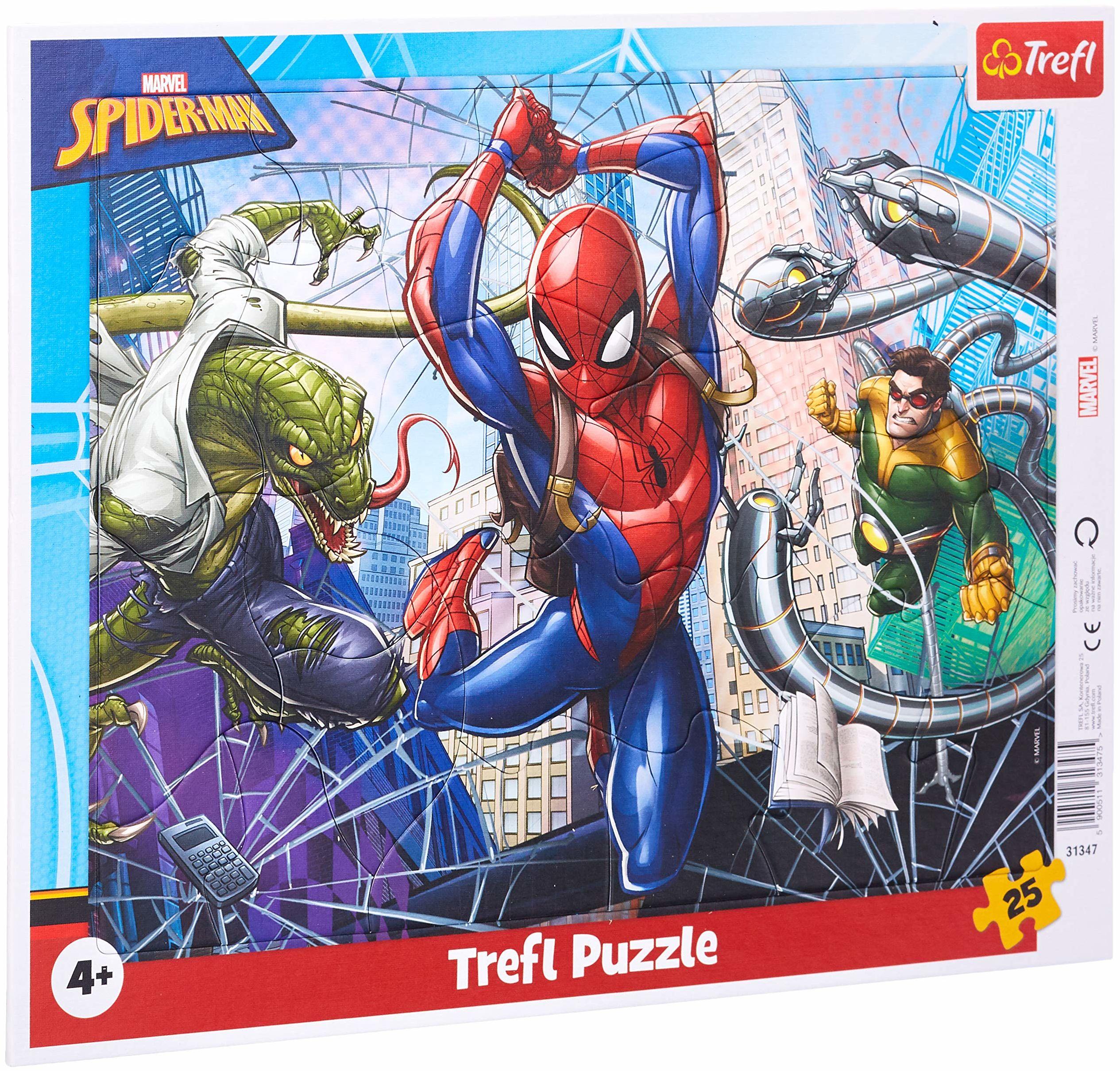 Trefl - 25 Ramkowe, Odważny Spiderman, Disney Marvel Spiderman 31347