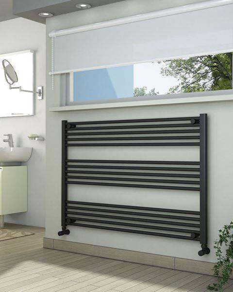 Grzejniki łazienkowe drabinkowe antracyt - 1200/800 mm