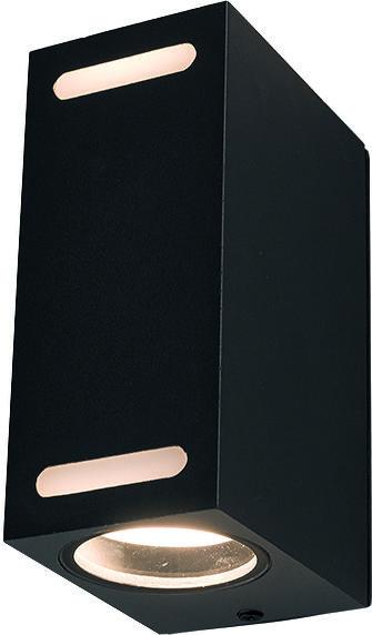 Kinkiet zewnętrzny Assos 9124 Nowodvorski Lighting sześcienna oprawa w kolorze czarnym