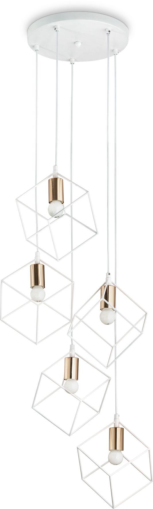 Lampa wisząca Ice 237671 Ideal Lux nowoczesna oprawa w kolorze bieli i złota