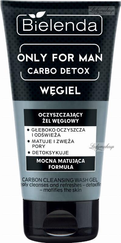 Bielenda - Only for Man - Carbo Detox - Węgiel - Oczyszczający żel do twarzy dla mężczyzn z węglem - 150 g