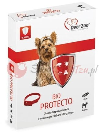 Over Zoo Obroża BIO PROTECTO do 10kg 35cm