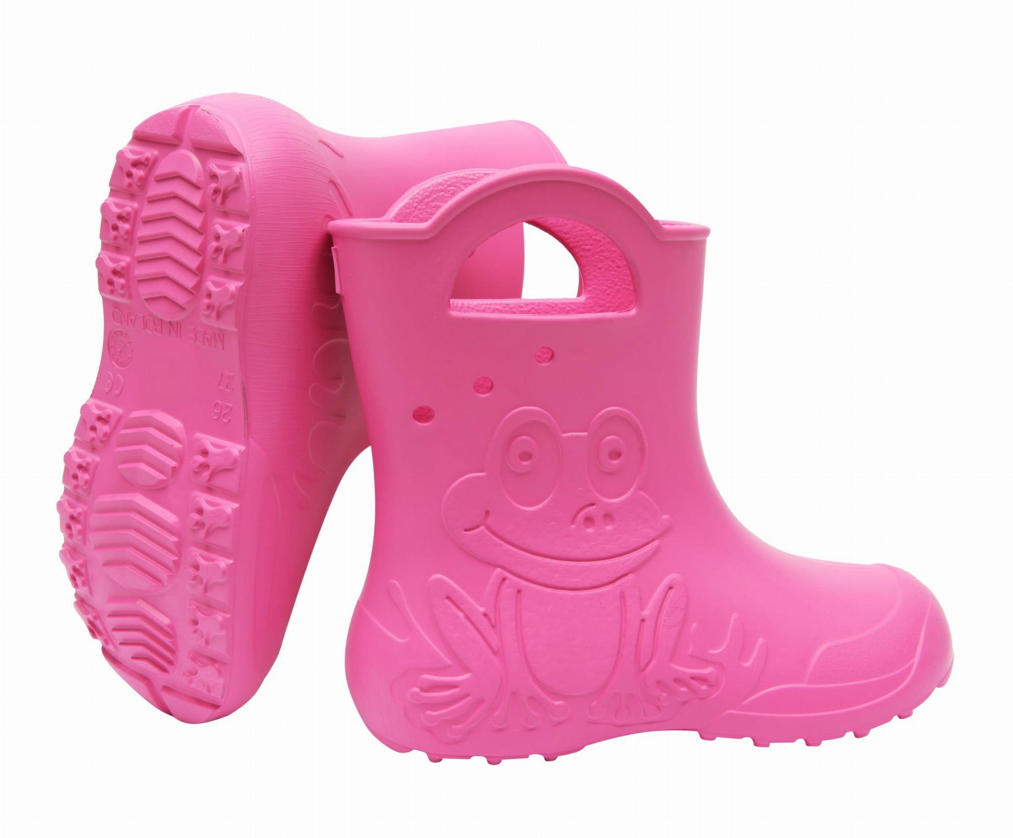 ZETPOL kalosze dziecięce EVA Frog Pink