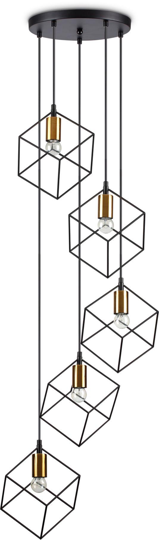 Lampa wisząca Ice 237664 Ideal Lux nowoczesna oprawa w kolorze czerni i złota