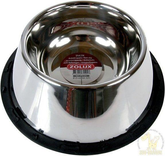 ZOLUX 475545 Miska Inox na gumie dla spaniela 24 cm 0,95 l