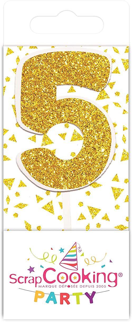 Scrapcooking 0595 mini świeca, kolor złoty 5