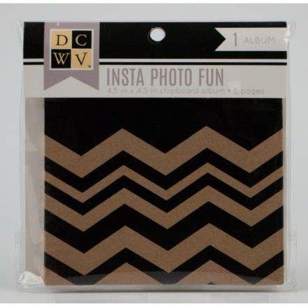 DCWV Album, papierowy, czarny, 11,43 x 11,43 cm