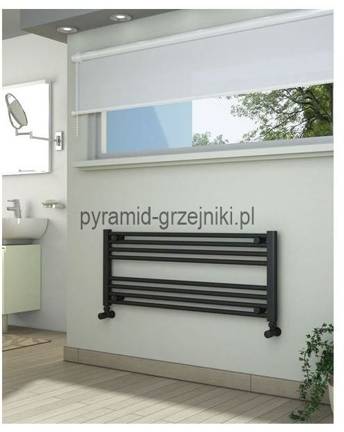 Grzejniki łazienkowe drabinkowe antracyt - 1000/400 mm