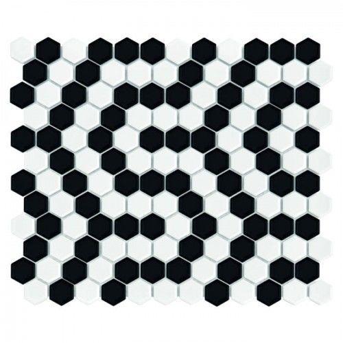 Dunin Mozaika Hexagonic MINI HEXAGON B&W CORAL Mozaika Hexagonic MINI HEXAGON B&W CORAL