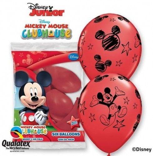 """Balony 12"""" z nadrukiem Myszka Miki - Mickey Mouse, 6 szt."""