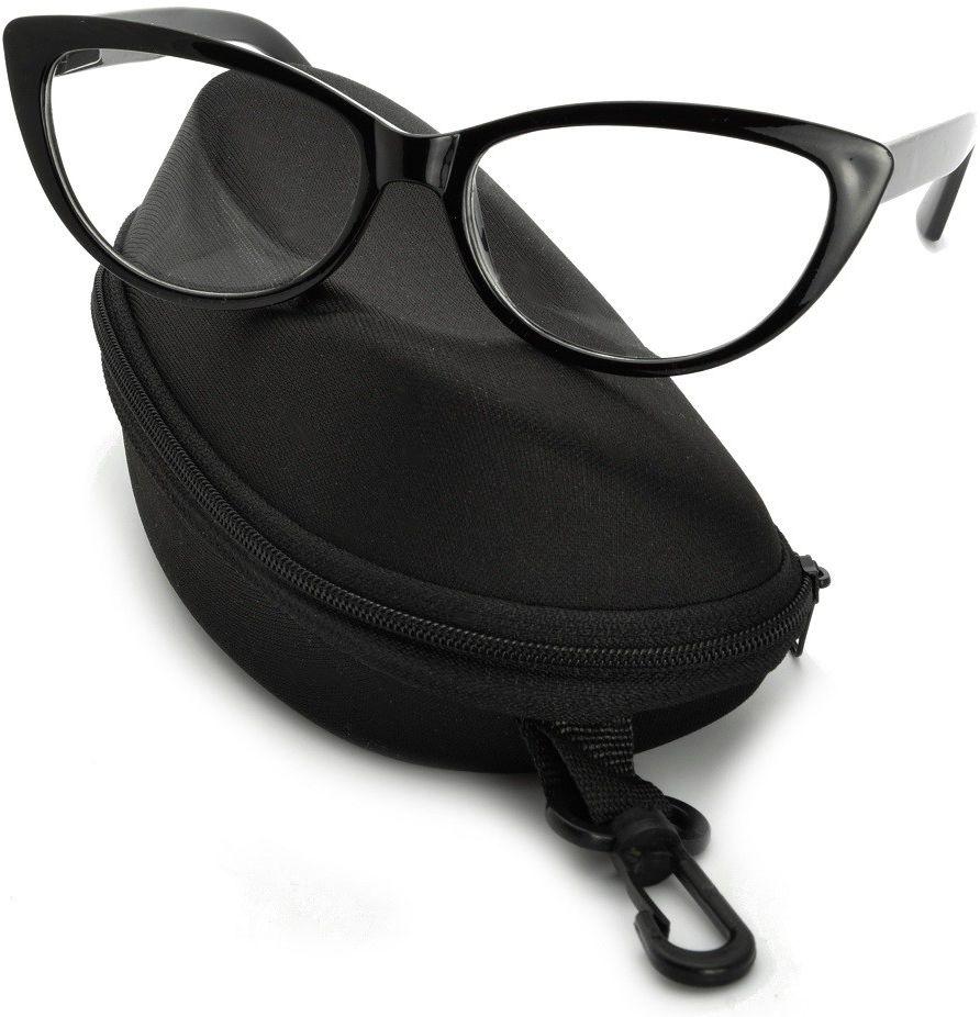 Kocie oczy okulary Zerówki Damskie CAT EYES oprawki ST101 na fleksach