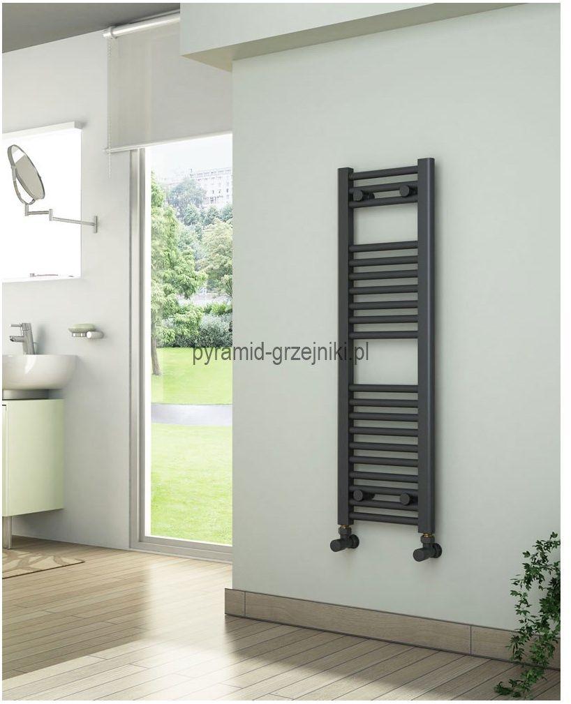 Grzejniki łazienkowe drabinkowe antracyt - 300/1000 mm