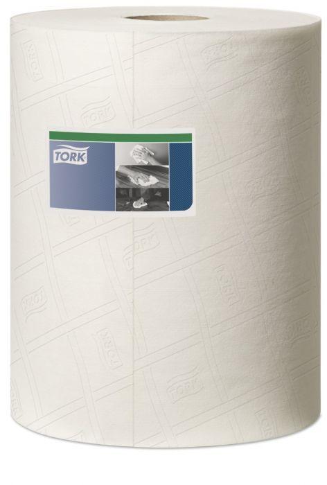 Czyściwo włókninowe do trudnych zabrudzeń przemysłowych Tork Premium w roli białe