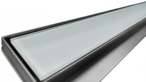 Odpływ liniowy szkło białe 80 cm OL-AG01W-80
