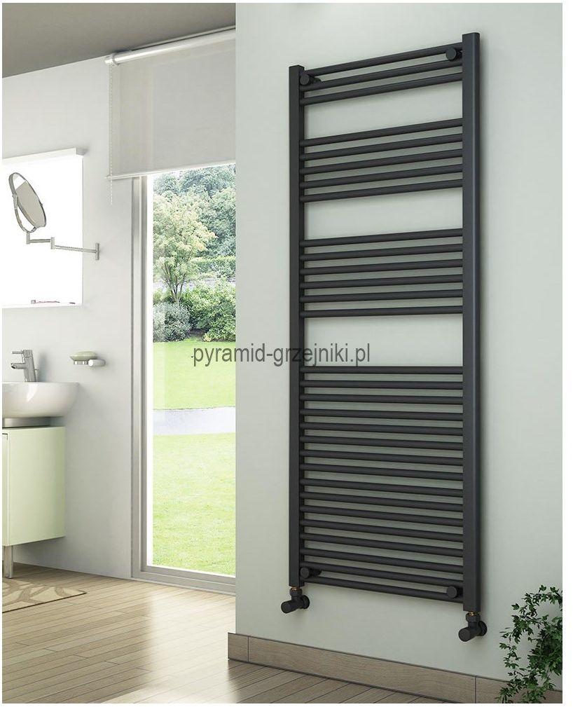 Grzejniki łazienkowe drabinkowe antracyt - 600/1500 mm