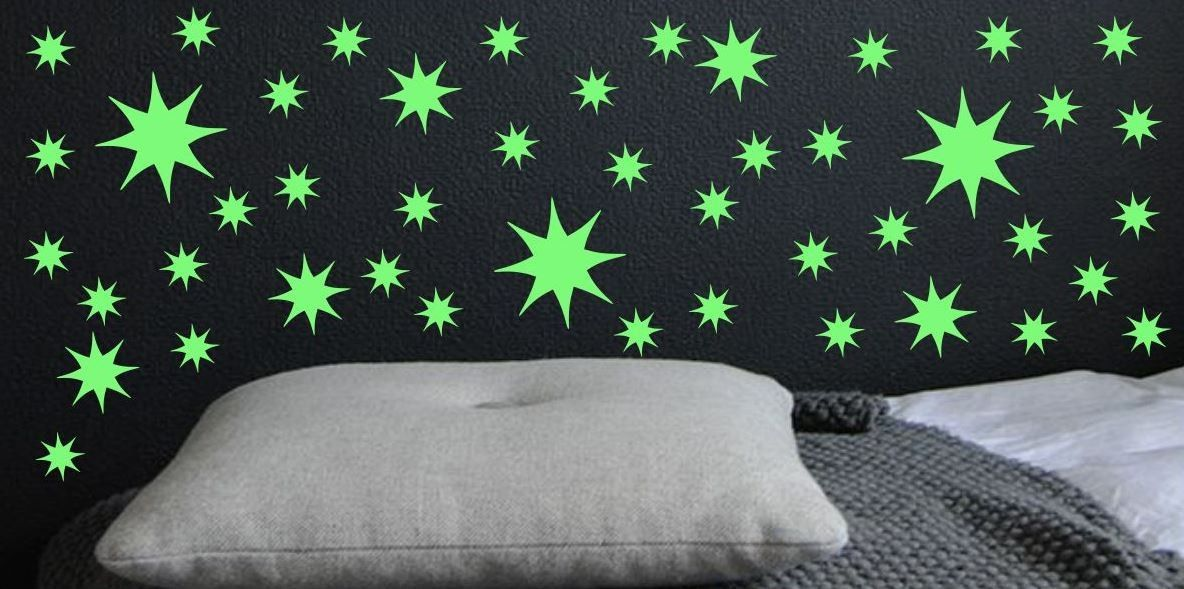 Naklejka świecąca w nocy gwiazdeczki