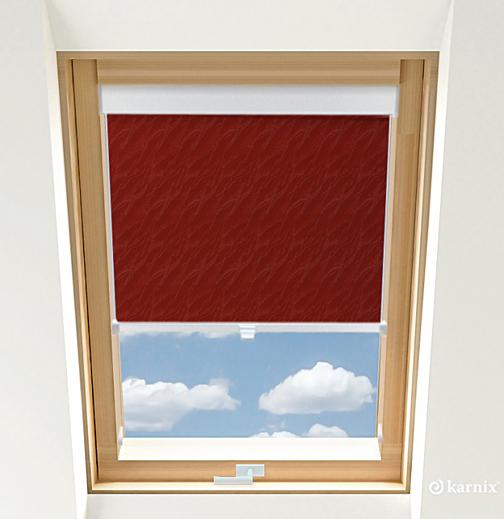 Roleta do okien dachowych BASIC AQUA - Cherry / Biały