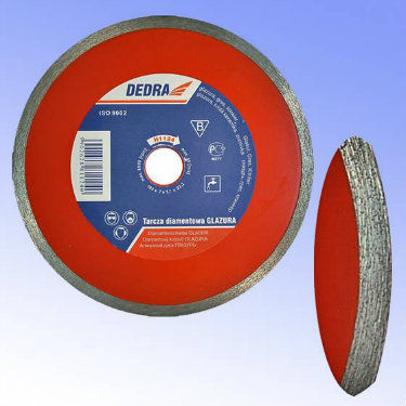 Tarcza diamentowa ciągła do cięcia płytek glazurniczych 180/25,4mm DEDRA H1124E