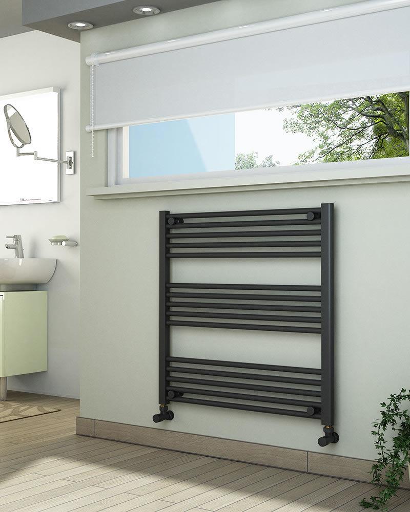 Grzejniki łazienkowe drabinkowe antracyt - 800/800 mm