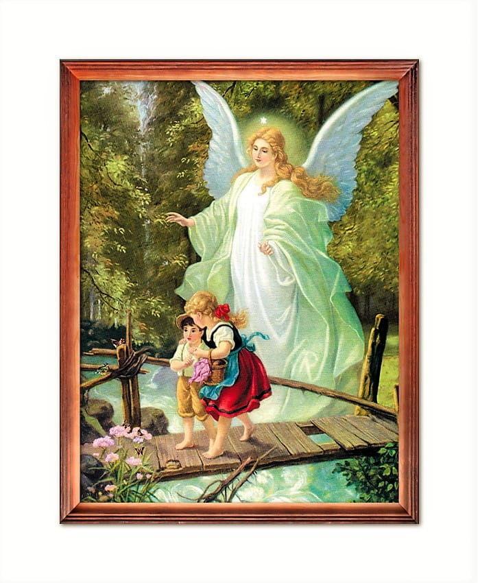 Obraz Anioła Stróża z dziećmi