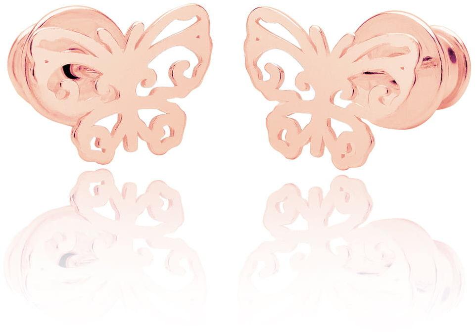 Kolczyki motylki ażurowe sztyft