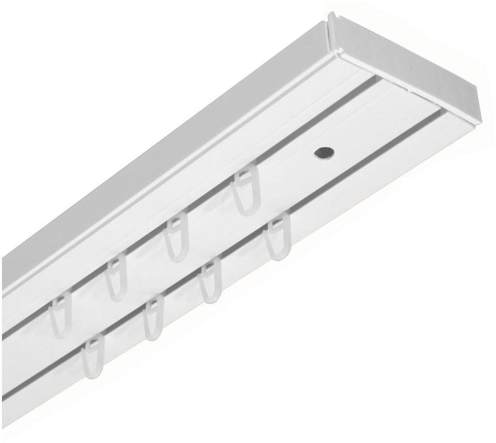 Szyna sufitowa 2-torowa biała 200 cm z akcesoriami PVC