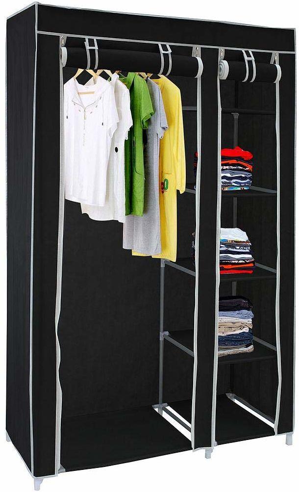 Sotech szafa na ubrania, tworzywo sztuczne, czarna, 172 x 105 x 43 cm, 10
