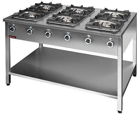 Kuchnia gastronomiczna gazowa 6-palnikowa KROMET 000.KG-6L