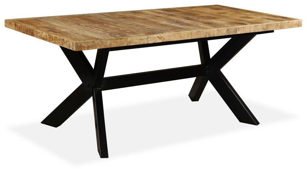 Stół z drewna mango Kalis 5X  jasnobrązowy
