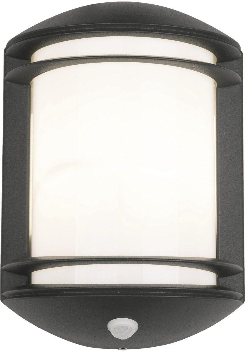 Kinkiet zewnętrzny Quartz Sensor 7016 Nowodvorski Lighting czarna oprawa z czujnikiem ruchu