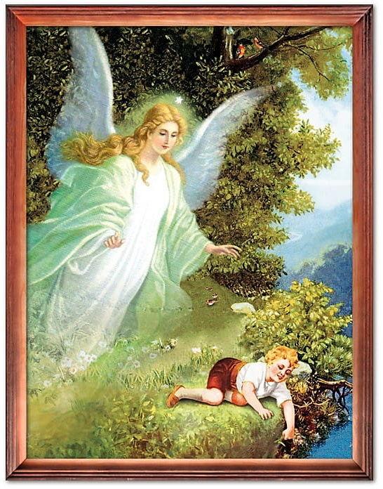 Obraz Anioła Stróża z chłopcem