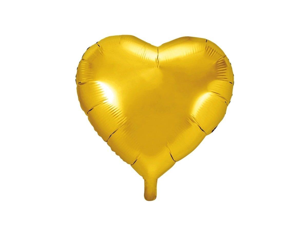 Balon foliowy Serce złote - 45 cm - 1 szt.