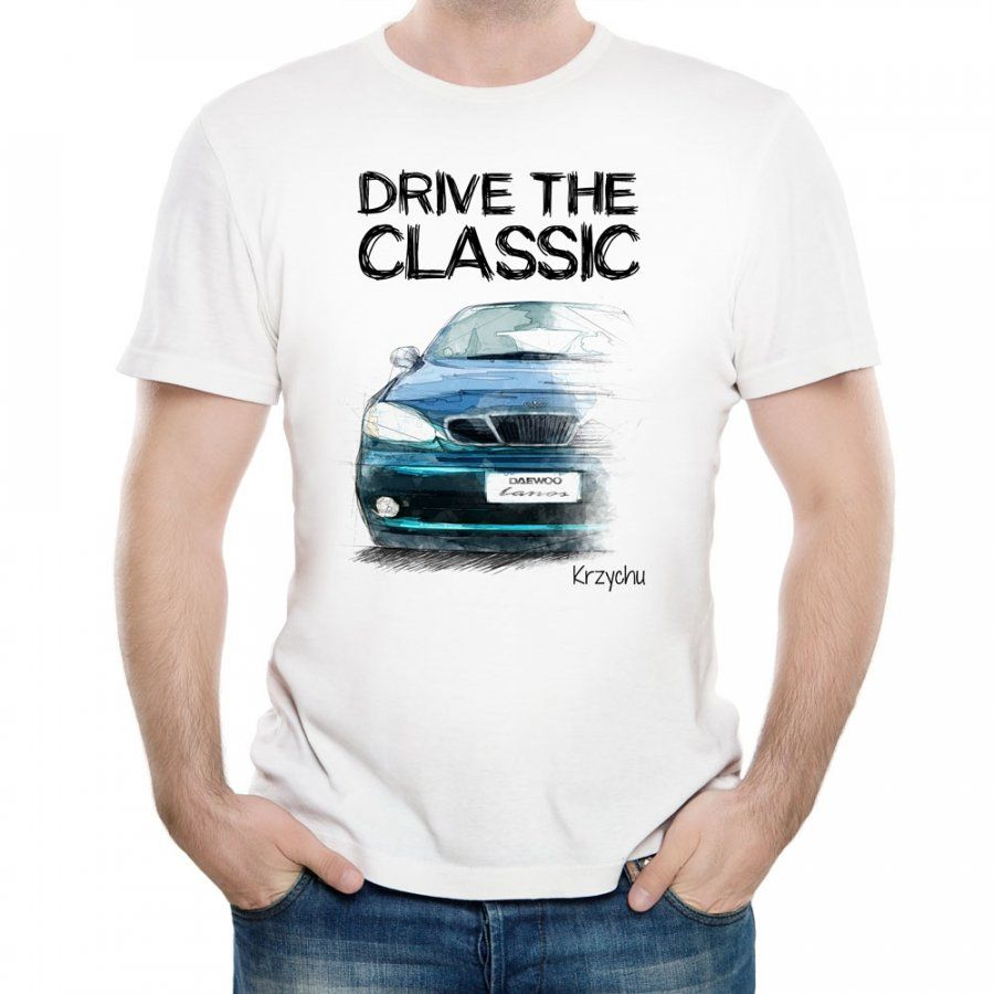 Koszulka Męska z Twoim Nadrukiem DAEWOO LANOS