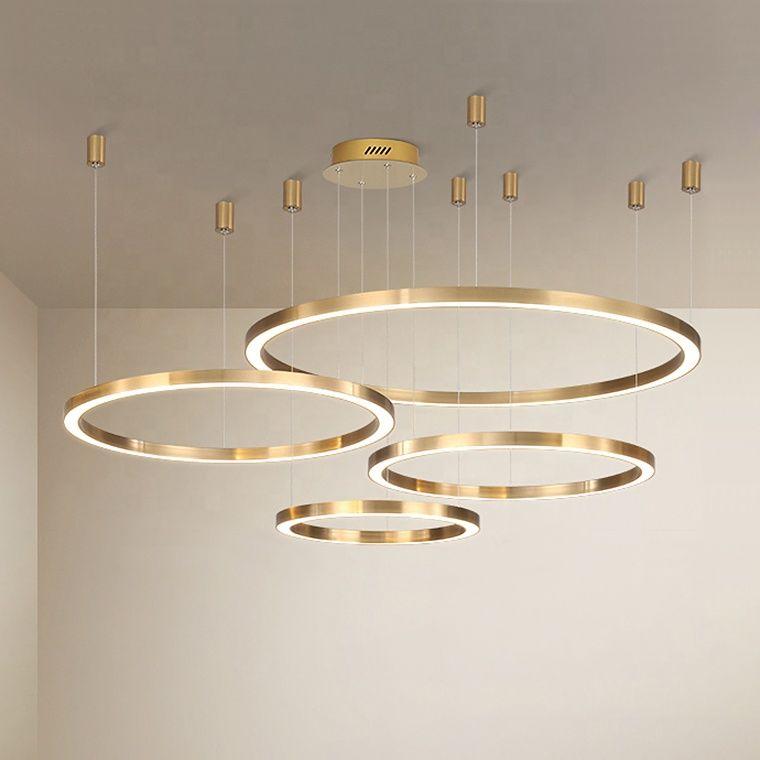 Duża lampa wisząca ring złota 100cm 197Watt L137