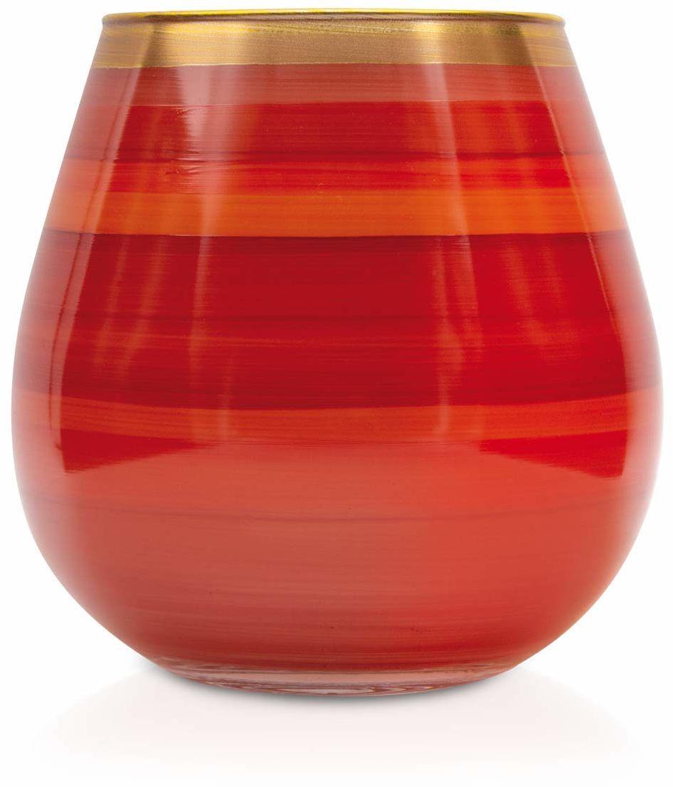 Angela Neue Wiener Werkstätte Świecznik Vesuvio wazony pomidorowe z kolorowego szkła, czerwony, 15 cm