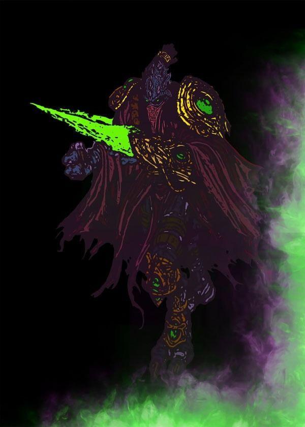 Blizzardverse stencils - zeratul, the dark prelate, starcraft - plakat wymiar do wyboru: 29,7x42 cm