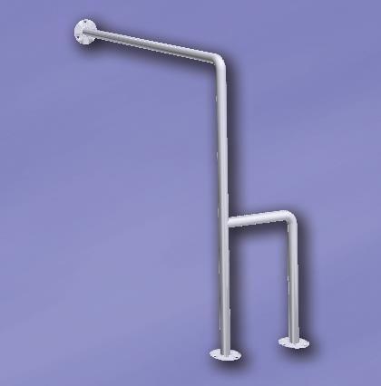 Uchwyt do WC UWCP-700/700- stalowy biały