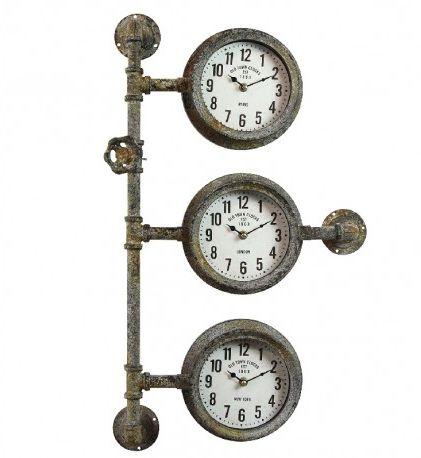 Industrialny Zegar Rury Potrójny
