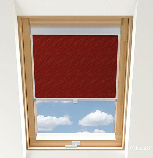 Roleta do okien dachowych BASIC AQUA - Cherry / Srebrny