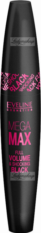 Eveline Cosmetics - Mega Max - Full Volume Mascara - Tusz do rzęs - 10 ml - BLACK
