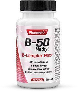 Kompleks Witamin B-50 Methyl B-complex Max+ (60 kaps) Pharmovit
