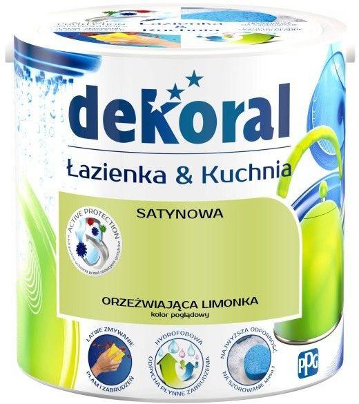 Farba satynowa Dekoral Łazienka i Kuchnia orzeźwiająca limonka 2,5 l