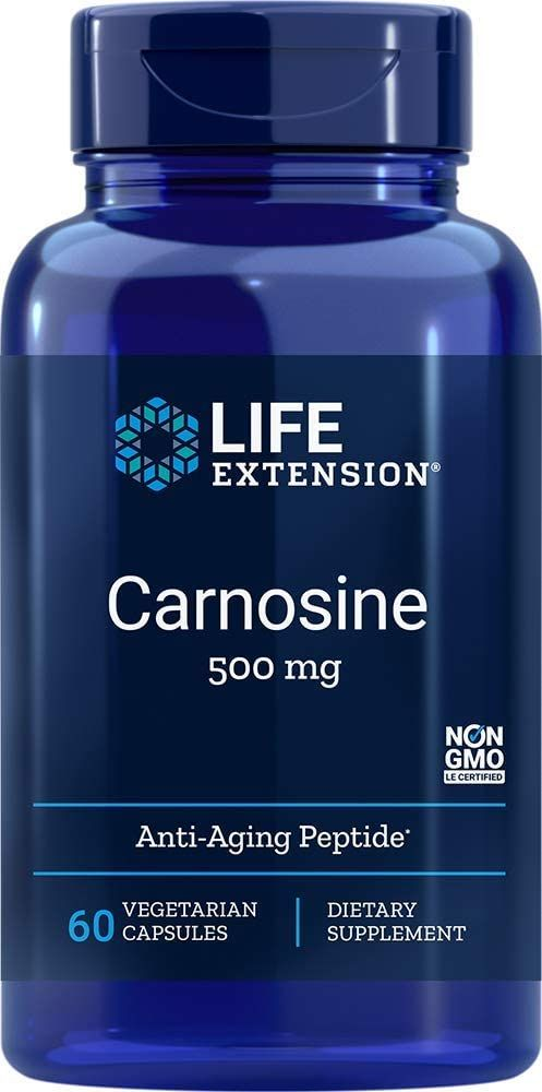 LIFE EXTENSION Carnosine (Karnozyna) 500mg 60 Kapsułek wegetariańskich