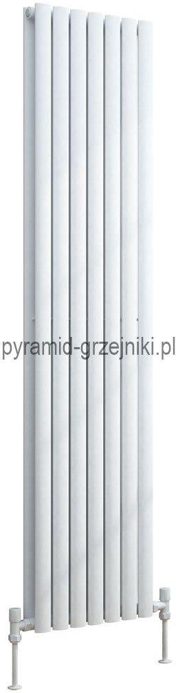 Grzejnik pionowy dekoracyjny VERTICA 420/1800 mm podwójny - biały