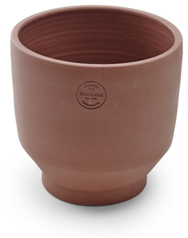 Skagerak EDGE POT Doniczka z Terakoty 15 cm - Burned Red